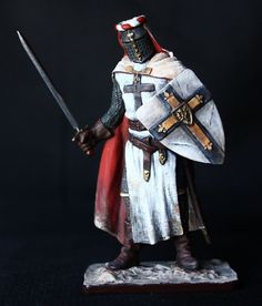 Medieval Teutonic Knight Tin toy soldier 54 mm., figurine, metal sculpture. #Spbdolls