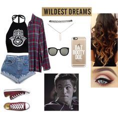 Dating Liam Dunbar from Teen Wolf by http-kylie on Polyvore featuring Madewell, Boohoo, Converse, Wet Seal, Casetify and Karen Walker