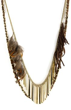 guinevere feather multi chain necklace from nordstrom. cool.