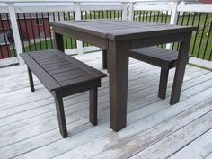 KrisKraft: Outdoor Table and Benches
