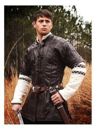Warrior's leather tunic jacket.