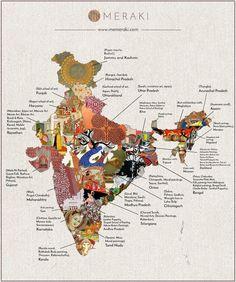Folk Art Map of India