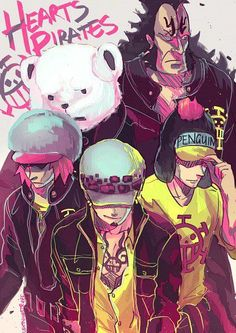 Heart Pirates: Jean Bart, Bepo, Shachi, Penguin & Trafalgar D Water Law