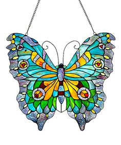 Stained Glass Swallowtail Butterfly Window Panel on #zulily