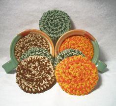 Yarn Scrubbies. Ecofriendly scrubbers home many by JazzysCrochet, $5.00