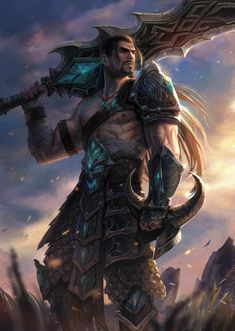 #fantasymen #shirtlessfantasymen #fighter #barbarian