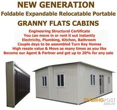 Revolutionary New Expandable Foldable Portable Relocatable Fully Insulated GRANNY FLATS/CABINS for sale in Padstow NSW   Revolutionary New Expandable Foldable Portable Relocatable Fully Insulated GRANNY FLATS/CABINS