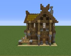 minecraft building ideas Viking House - GrabCraft - Your number one source for MineCraft buildings, blueprints, tips, ideas, floorplans! Mine Minecraft, Minecraft City, Minecraft Plans, Minecraft Survival, Minecraft Construction, Casa Viking, Viking House, Minecraft House Designs, Minecraft Creations