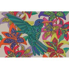 East Urban Home Hummingbird Puzzle III by Valentina Harper Graphic Art on Wrapped Canvas Size: