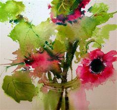 """Pretty Pink Poppies"" - Original Fine Art for Sale - � Pamela Harnois"