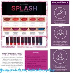 Tips and instructions for our brand new lip product! Get your splash October 15, 2016 at youniqueproducts.com/kirstinsbellemaquillage