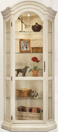 Philip Reinisch Color Time Panorama - Modern Corner Curio Display Cabinet in Hardwood
