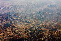 4. Une vue impressionante et un peu oppressante de la ville de Mexico City au Mexique et un cliché étonnant de la mégalopole de Shanghaï