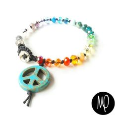 Pulsera - Cristales #paz #peace