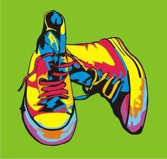 pop art shoes