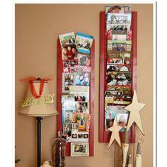 Christmas card holder (painted window shudder)
