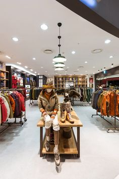 Aigle flagship store by khanproject, Seoul store design