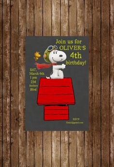 New to DotcaShop on Etsy: Printed |  Snoopy birthday :-) (25.50 CAD)