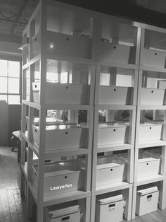 """My Urban Dwelling IKEA Hack by """"The Lawyertor"""" WALL made out of LACK TABLES Lack Table Hack, Apartment Locator, Eclectic Design, Ikea Hack, Office Decor, Storage Spaces, Small Spaces, Locker Storage, Organization"""