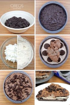 This delicious recipe for dessert made with nutella will delight you, they are a delight for all your senses, best of all is that you can prepare it in an [. Oreo Desserts, Easy Desserts, Delicious Desserts, Dessert Recipes, Yummy Food, Yummy Yummy, No Bake Oreo Pie, Yummy Treats, Sweet Treats