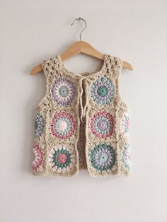 JUNE CUSTOM SLOTS, Baby, Crochet Waistcoat, Bohemian, Children's clothing, Custom Crochet,
