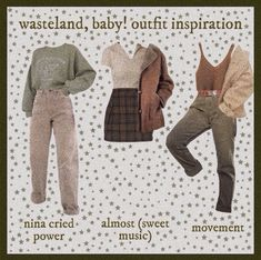 Retro Outfits, Cute Casual Outfits, Stylish Outfits, Fall Outfits, Vintage Outfits, Fashion Outfits, Aesthetic Fashion, Aesthetic Clothes, Mode Grunge