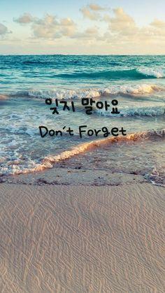 Don't Forget (잊지 말아요)