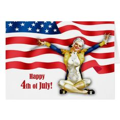 Happy 4th of July.  Fourth of July , USA Independence Day Customizable Postcards with a vintage pin-up magazine illustration. Artist : Alberto Vargas. Matching cards and products available in the Holidays / 4th of July Category of the oldandclassic store at zazzle.com