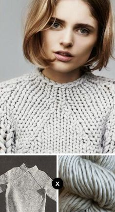 Knitting Patterns Chunky Knit the Look: Mariska& van der Zee& EZ pullover : : Fringe Association Knitting Yarn, Hand Knitting, Knitting Projects, Crochet Projects, How To Purl Knit, Knit Patterns, Sweater Knitting Patterns, Knit Crochet, Ravelry Crochet