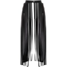 Dee Black Faux Leather Extreme Fringe Belt (385 MKD) ❤ liked on Polyvore featuring accessories, belts, skirts, bottoms, faux leather belt, faux leather fringe belt, boho belt, vegan belts and fringe belts