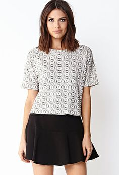 Ornate French Terry Top | FOREVER21 - 2000091740
