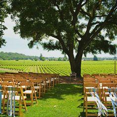 Healdsburg Country Gardens rustic vineyard wedding ceremony site