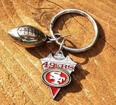 San Francisco 49ERS Football Key Ring by SurvivorsShine on Etsy