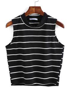 Shop Striped Black Tank Top online. SheIn offers Striped Black Tank Top & more to fit your fashionable needs.