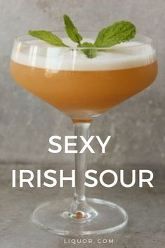 Classics You Should Know: The Whiskey Sour This Sexy Irish Sour will satisfy your craving for Irish whiskey. This cocktail will be a favorite at your St. Sour Cocktail, Cocktail Drinks, Cocktail Recipes, Party Drinks, Liquor Drinks, Jameson Cocktails, Irish Cocktails, Summer Cocktails, Sour Drink