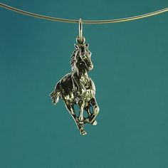 Galloping Horse pendant in 925 sterling silver by LaGrangeBijoux