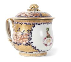 Chinese armorial pot