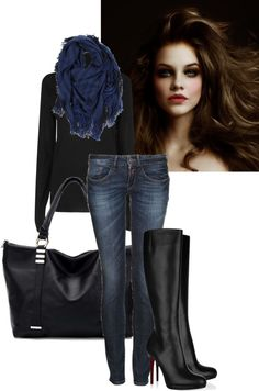 """cold brunette"" by leily-mejia on Polyvore"
