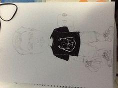 Eu em desenho