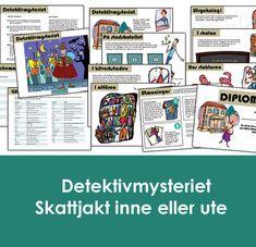 """Skattjakt: Detektivmysteriet 4-6 år Fixa mysteriekalas! I Småköping härjar den ökända boven """"Skuggan"""" och där  händer mystiska saker - värdefulla böcker försvinner från biblioteket.  Stadens klantiga detektiv Fingal Finn antar utmaningen att hitta  böckerna, men bibliotekarien Bella Blädder vet bättre och ber istället  barnen hjälpa till - och hon utlyser en belöning till dem som kan hitta  de försvunna böckerna! #skattjakt #barnkalas #kalaslekar #lekar #utomhus #utomhuslekar Grape Vines, Vineyard Vines, Vines"""