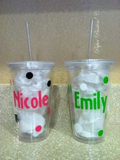 Personalized Acrylic Tumbler Cup by paperpassioncards on Etsy, $13.00