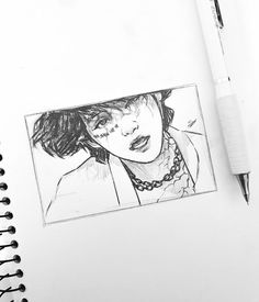 Well overdue for a mouth step by step 😅 I didnt realise it had been so long 😱 the steps are pretty much the same! ~ Mark out the corners… Fanart Bts, Taehyung Fanart, Bts Taehyung, Kpop Drawings, Pencil Art Drawings, Drawing Sketches, Sketching, Arte Sketchbook, Aesthetic Drawing
