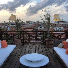 """A peaceful view on the rooftops of Venice from the terrace of the @Aman Hotel.  @daveybarrett"""