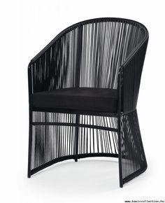 Basic Collection, Tibidabo armchair #armchair #design #outdoor #black #tibidabo