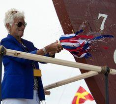 Bullard christens Charles Morgan ship | Boothbay Register