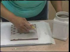Good Video Demo: paper resist with slip or glaze; shows sgraffito (4:50)