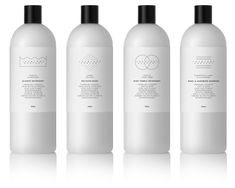 """Clean your dirty linens in style with Lac Blanc Zurich's luxury line of  detergent and fabric shampoo. Designed by mousegraphics,a minimalist  approach was taken with a colorway of black and white. Plastic white  bottles are labeled with simple graphics demonstrating the use of each  product. For all those people who believe """"less is more"""", this is a  must-have product for you and your household."""