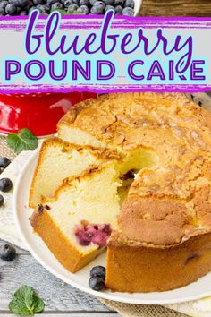 Blueberry Pound Cake recipe is tender, buttery, and luscious. Fresh or frozen blueberries adds pops of juicy flavor! Homemade Desserts, Best Dessert Recipes, Cookbook Recipes, Fun Desserts, Baking Recipes, Sweets Recipes, Best Pound Cake Recipe, Pound Cake Recipes, Blueberry Pound Cake