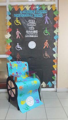 Engelliler günü Child Development, Elementary Schools, Crafts For Kids, Preschool, Creations, Classroom, Activities, Wall Art, Children