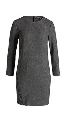 Robe coupe boule, tweed stretch